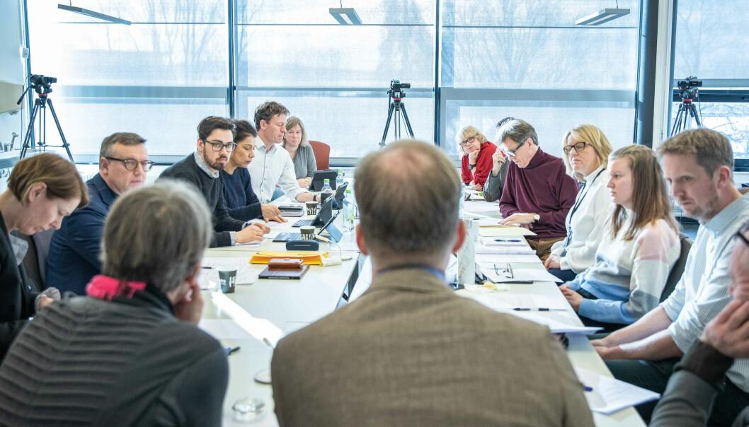 Styret ved OsloMet skal avgjøre om universitetet fortsatt skal ha et studiested på Kjeller etter 2023. Her fra forrige styremøte, som ble holdt nettopp på Kjeller.
