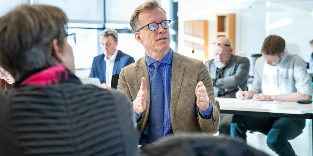 Rektor Curt Rice måtte innse at styret ikke ville samlokalisere hele LOsloMet i Oslo sentrum.