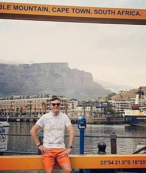 En fridag, fikk rektor Dag Rune Olsen i Sør-Afrika før det daglige programmet begynte. Nå må han i karantene. Foto: privat