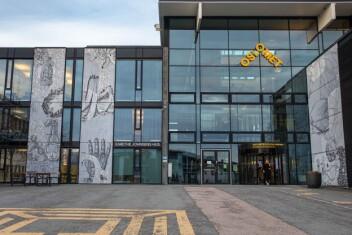 Bygget i Kunnskapsveien 55 på Kjeller, der OsloMet (tidligere Høgskolen i Akershus og deretter Høgskolen i Oslo og Akershus) har holdt til siden 2003.