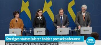 Den svenske regjeringen anbefaler fjernundervisning for universiteter og høgskoler