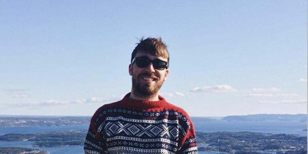 Francis Therrien var i Norge på utveksling før han søkte seg inn på mastergradsprogrammet i medievitenskap ved Universitetet i Oslo i 2018.