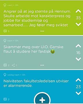 På Jodel-gruppen til jussen ved Universitetet i Oslo har diskusjonen gått hett for seg.