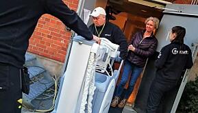 Pål Andersen fra ReLokator sikrer transporten.