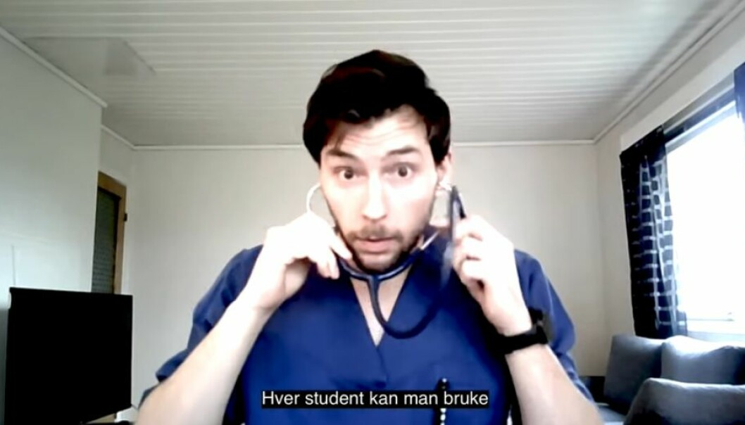 Medisinstudenter ved Universitetet i Bergen har laget en musikkvideo om korona.