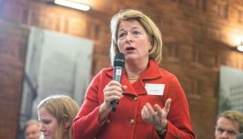 UiT-rektor Anne Husebekk tek imot statsministeren denne veka.
