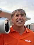 Fred Prata under testflyving hos EasyJet.