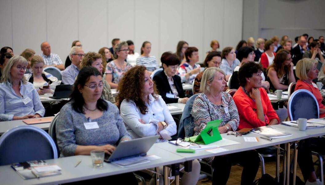 Flest kvinner samla på likestillingskonferanse. Men er det likestilling i universitets- og høgskulesektoren?