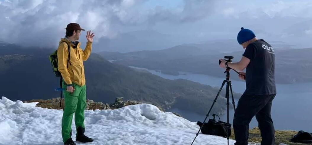 Dro til fjells for å lage undervisning