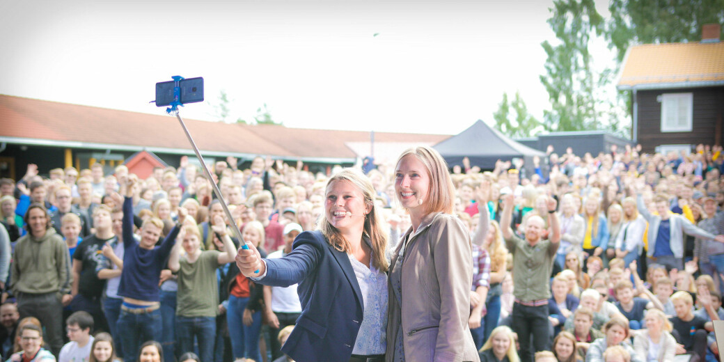 Daværende forsknings- og høyere utdanningsminister Iselin Nybø, var med da studentene ved NTNU Gjøvik startet opp høsten 2018. De er blant studiestedene som er blitt mer populære etter fusjon.
