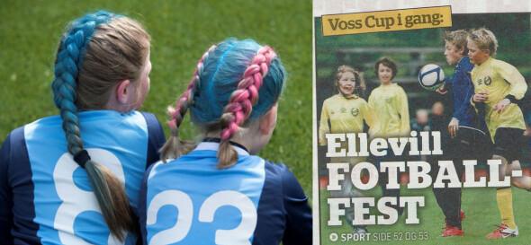 Fargerike frisyrer og fargerike navn. Nordnes Kvelerslanger vs Kråkenes United.
