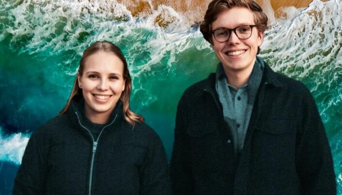 Gard Aasmung Skulstad Johanson og Cora Jensen er opptatt av klima.