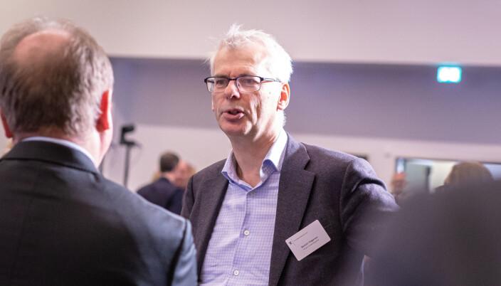 Rektor Øystein Thøgersen, her på kontaktkonferansen 2020 på ingeniørenes hus i Oslo.