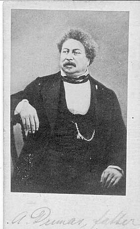 Alexander Dumas. Bildet fra Mathias Askevolds samling ved Billedsamlingen.