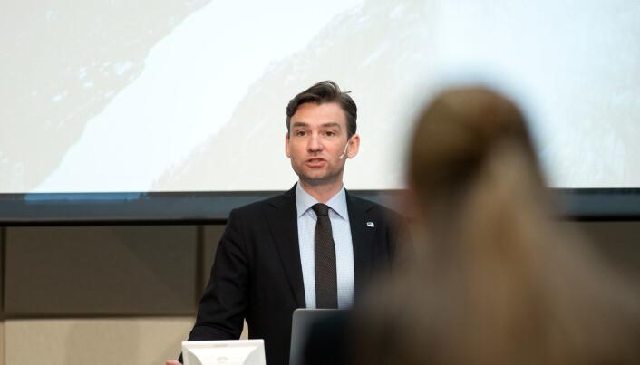 Fredag presenterte statsråd Henrik Asheim søkertalla for høyere utdanning.