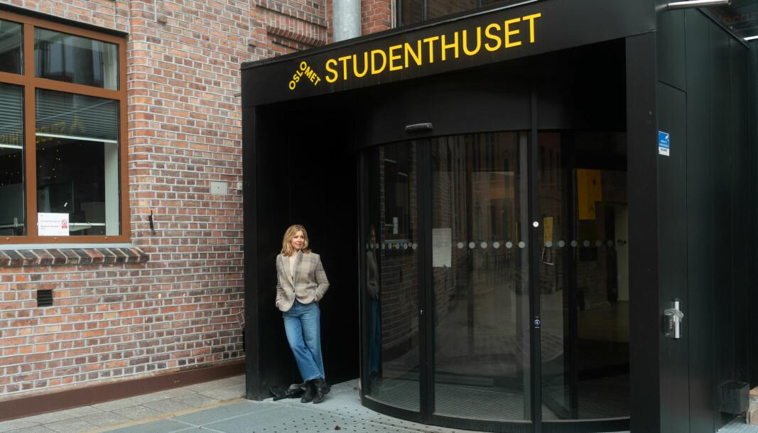 Prorektor for utdanning ved Oslomet, Nina Waaler, under nedstegningen i mars. OsloMet er en av mange universiteter og høgskoler som allerede hadde planlagt for digital semesterstart nå i januar.