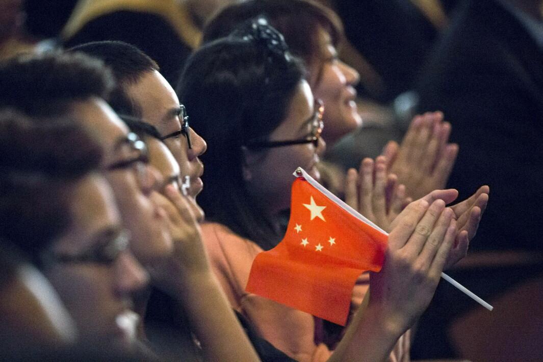 Studenter under et besøk av den kinesiske presidenten Xi Jinping ved Lincoln High School i Tacoma, Washington. Det er over 300.000 kinesiske studenter i USA.
