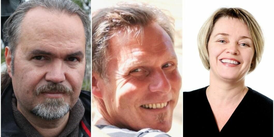 Kjetil Vikhamar Thengs (t.v.), Morten Heide og Anita Berge blir alle nye instituttleiarar ved Universitetet i Stavanger frå august av.