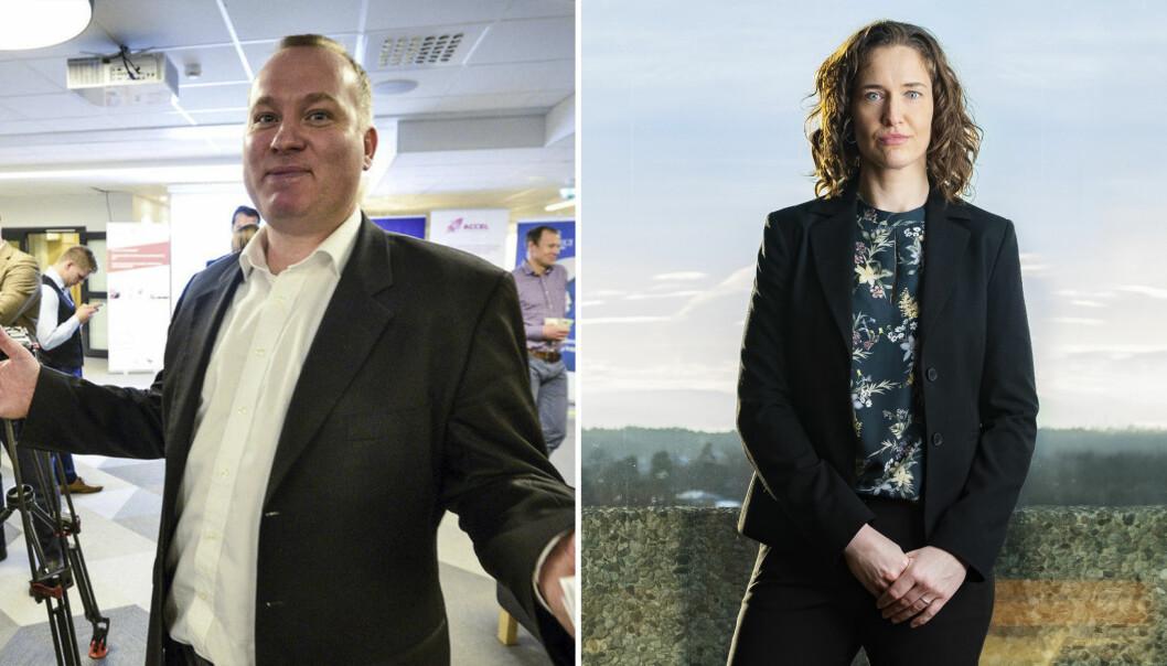 Styreleder og daglig leder, Anders Haugland og Trine Ellingsen, i Foreningen for innovasjonsselskaper i Norge, FIN.