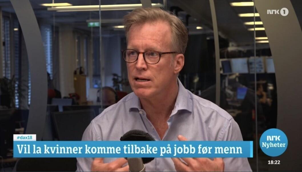 OsloMet-rektor Curt Rice møtte motstand mot kvotering av kvinner tilbake til kontoret fra Høyres Heidi Nordby Lunde i Dagsnytt18 onsdag kveld.