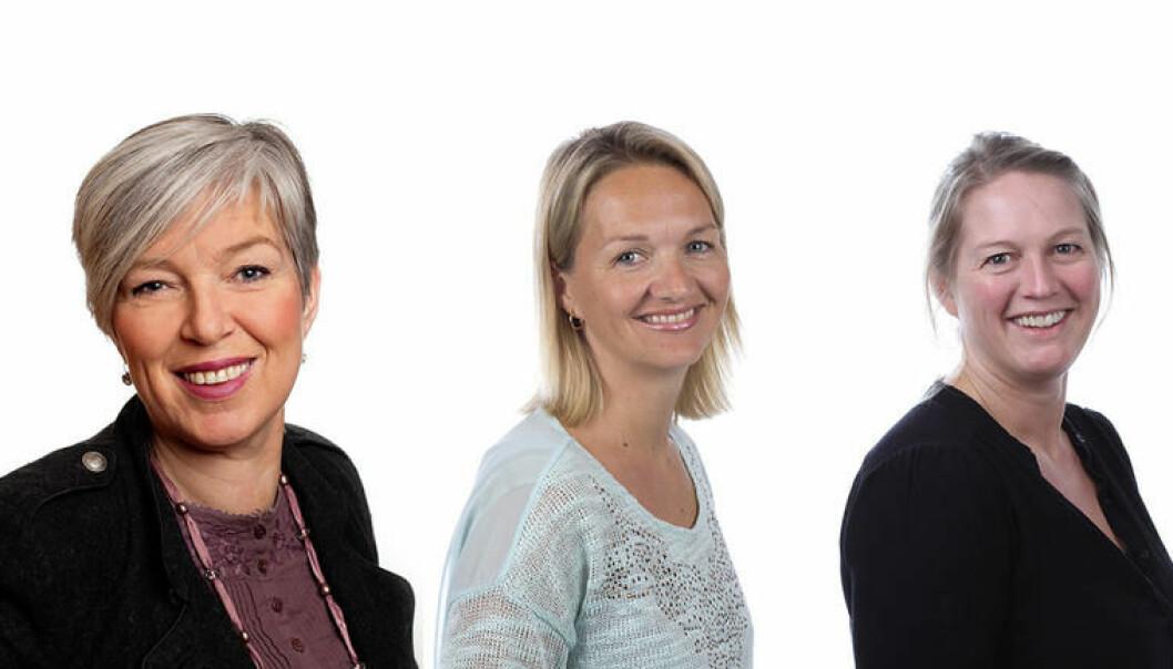 Nye toppledere ved USN, f.v: Gro Bratsberg, Pia Bing-Jonsson og Vibeke Bredahl.