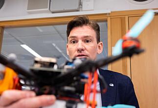 Testet droneprosjekt med statsrådsbesøk ringside