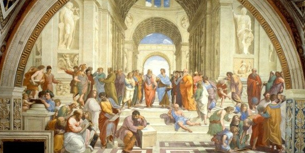 Allerede Aristoteles hevdet at etikken handler om å ha mot til å tåle det som er annerledes, skriver Egil Olsvik. Illustrasjon: Rafaels Atenskolen