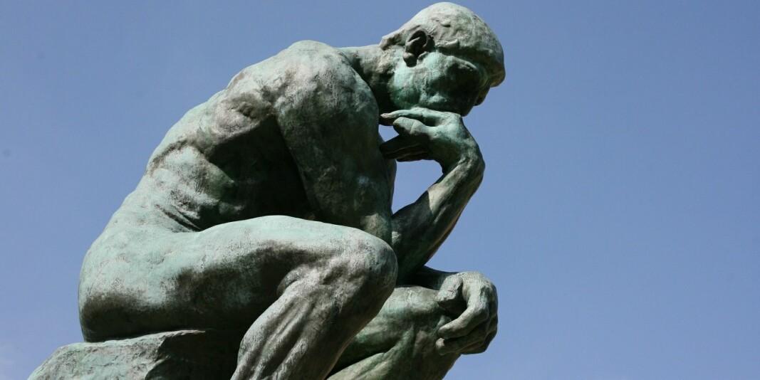 Illustrasjonsfoto av Tenkeren av Rodin.