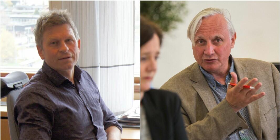 Professor Gaute Torsvik og professor Kristian Gundersen er kritiske til de mange rollene til Forskningsrådet.