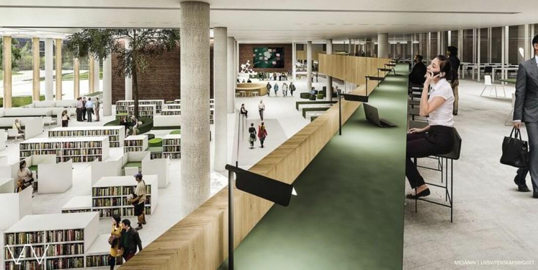 Livsvitenskapsbygget ved Universitetet i Oslo er ett av de store statlige byggeprosjektene med kontor og undervisningslokaler.