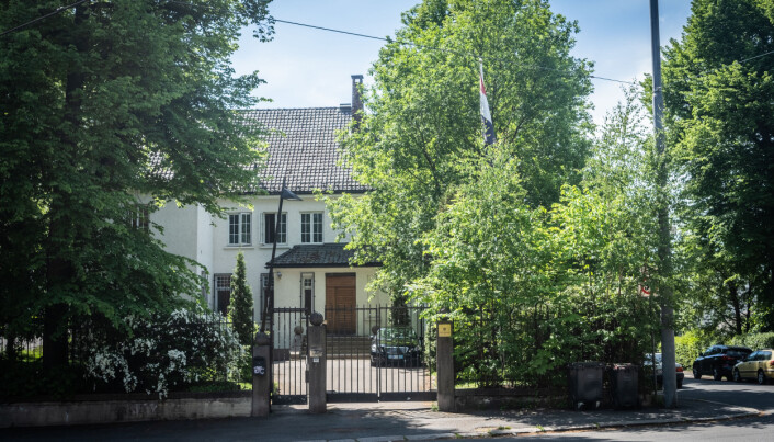Hit, hos Egypts ambassade i Oslo, har man flere ganger fått besøk av de to mennene Khrono har omtalt.