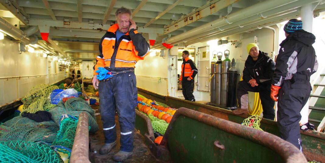 UiT Norges arktiske universitet har fått tildelt et senter for forskningsdrevet innovasjon som jobber med marin plastforurensing. Her førsteamanuensis Roger B. Larsen.