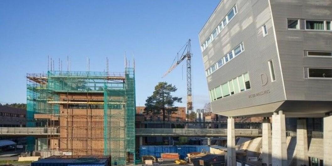 Det har vært stor byggeaktivitet på UiAs campus i Kristiansand. Det har fått fart på bruken av tidligere ubrukte midler.