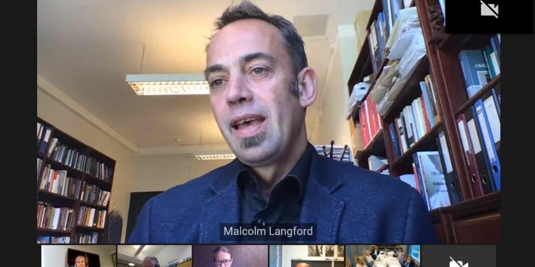 Professor Malcolm Langford har lenge engasjert seg i internasjonaliseringen i norsk akademia. Mandag vitnet han i rettssaken mellom Amrei Müller og Universitetet i Oslo.