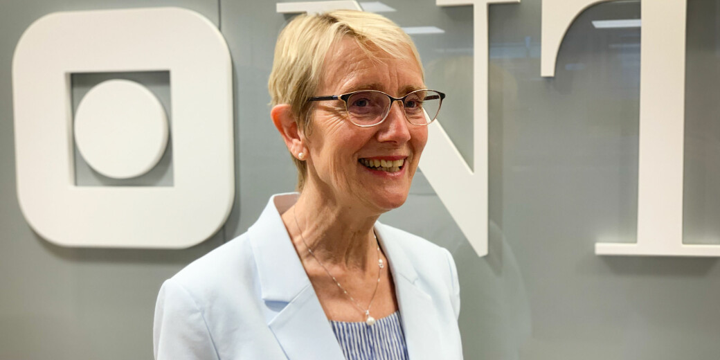 Selv om dette bildet ikke er fra i dag, er det grunn til å tro at rektor ved NTNU, Anne Borg, har dratt på smilebåndet også i dag.