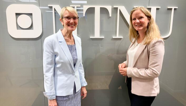 Rektor Anne Borg og områdedirektør i NHO, Mari Sundli Tveit, er enige om at arbeidslivsrelevans ikke bør inn som indikator i et nytt finanseringssystem.