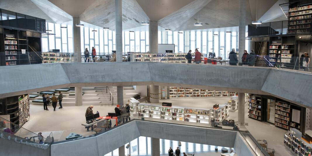 Slik der det nye hovedbiblioteket i Oslo ut inni.
