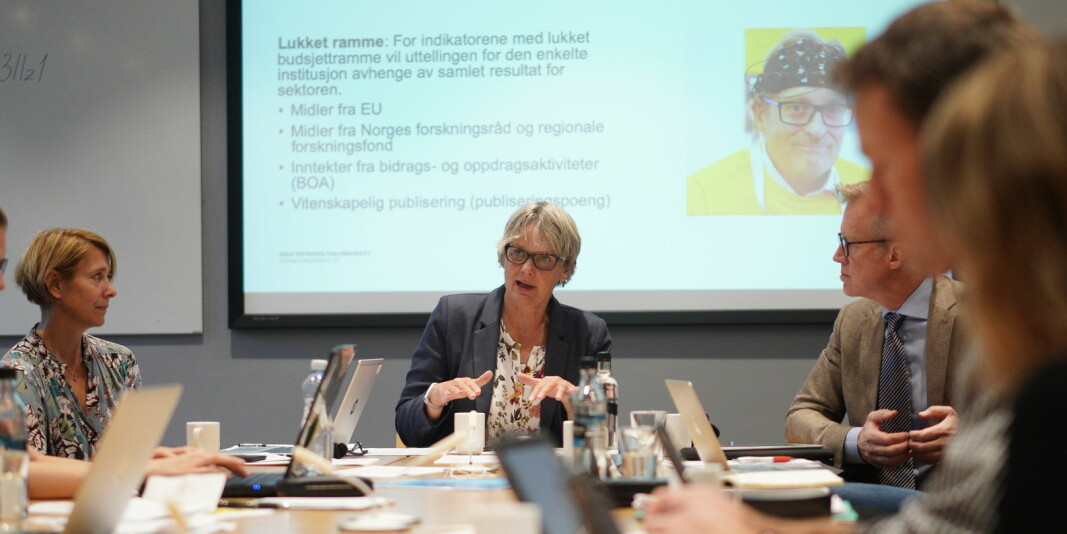 Styret ved OsloMet er bekymret for at antallet disputaser er halvert i første tertial, sammenlignet med samme periode i fjor. Her fra et tidligere styremøte.