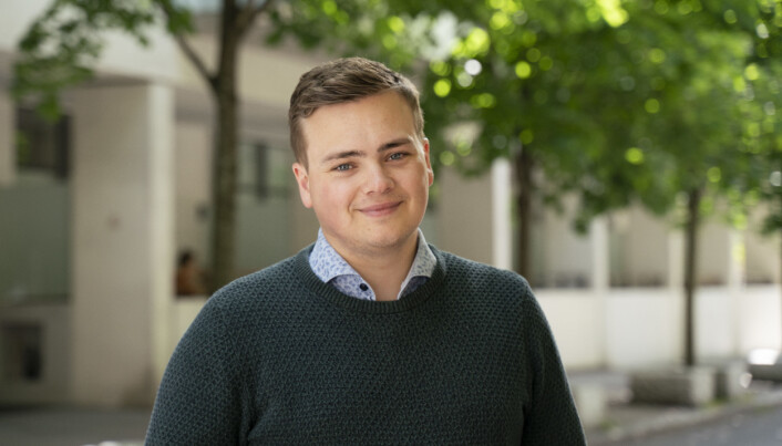 NSO-leder Andreas Trohjell håper på en mer normal studiehverdag fra høsten.