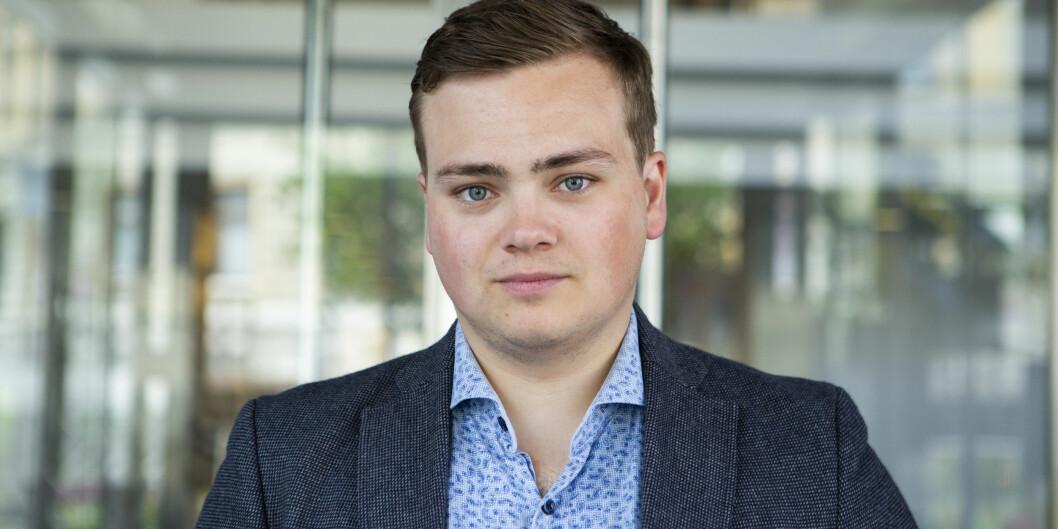 Andreas Trohjell, leder for Norsk studentorganisasjon (NSO).