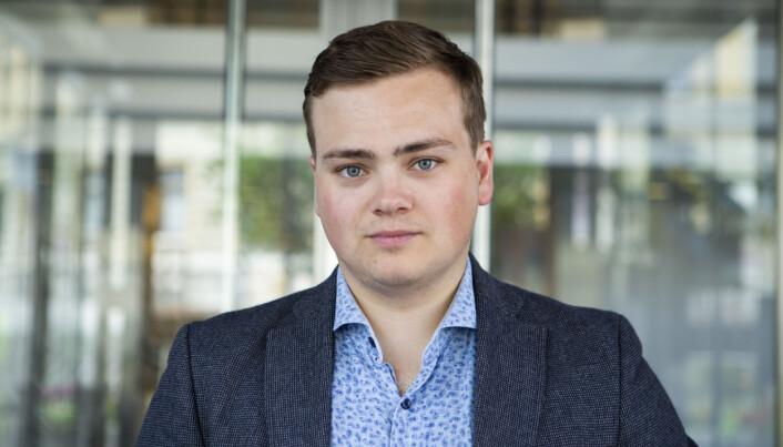 Leder i Norsk studentorganisasjon, Andreas Trohjell.