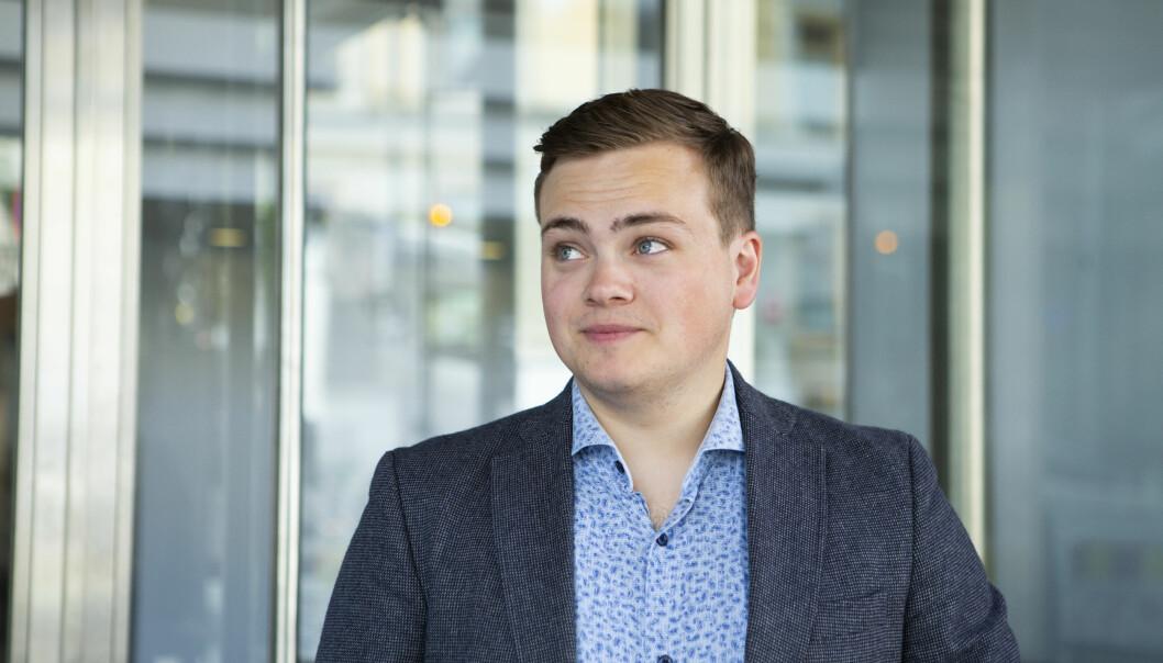 Andreas Trohjell, leder av Norsk studentorganisasjon