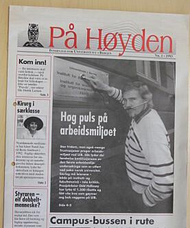 Her er faksimile av den aller første utgaven av På Høyden, på papir - i 1993.