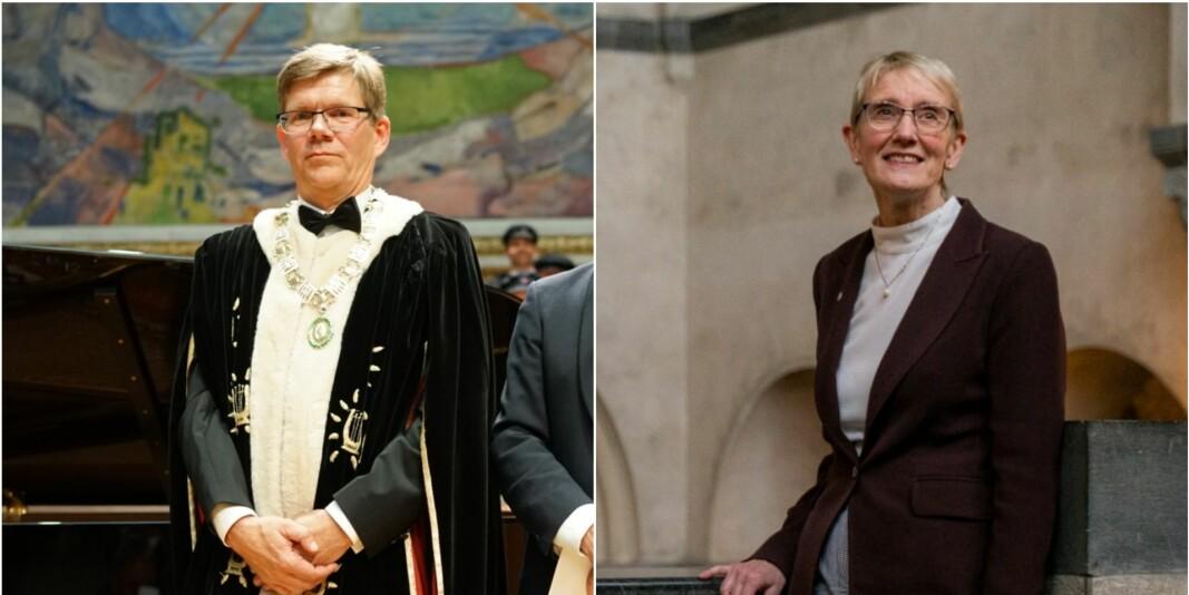 Rektor ved Universitetet i Oslo, Svein Stølen og rektor ved NTNU, Anne Borg er begge veldig glade for å ha fått tilslag på sine søknader om å danne såkalte European Universities.
