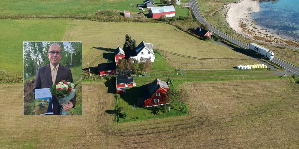 I dette området på Sandtorv i Tjeldsund i Harstad kommune lå en relativt stor handelsplass i vikingtiden