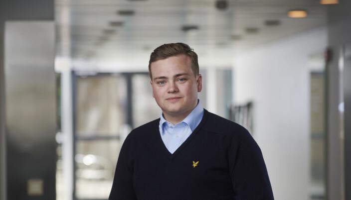 Andreas Trohjell, leder Norsk studentorganisasjon (NSO).