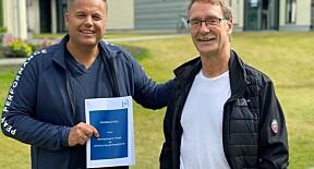 Stig Hansen i Næringshagene sammen med Morten Solheim ved BI.
