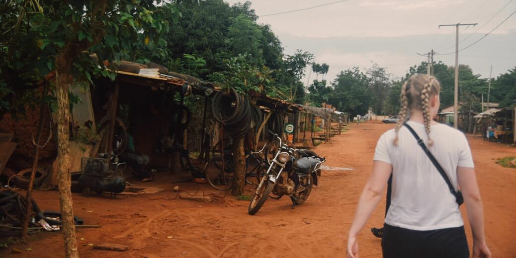 Utvekslingsopphold er full av opplevelser, men en analyse fra Nifu viser at utveksling ikke hjelper studenter med å få sin første jobb. Bildet er tatt i Togo under et utvekslingsopphold i Ghana høsten 2019.