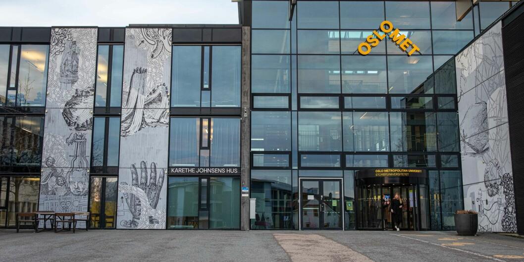 Gårdeier Hemfosa mener at OsloMet har inngått en bindende avtale om å¨ leie dette bygget på Kjeller i Viken fram til 2043. OsloMet sier at avtalen aldri ble signert.