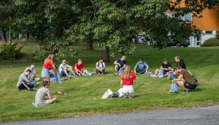 Fadderarrangement ved Universitetet i Agder, campus Kristitansand tidligere denne uken.